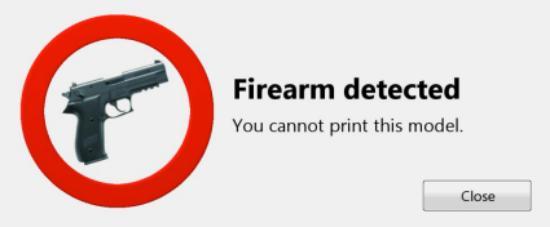 Danskt företag vill blockera 3D-utskrifter av vapen med mjukvara