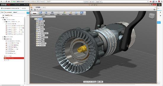 Autodesk och GrabCAD samarbetar om 3D-modellering i webbläsaren