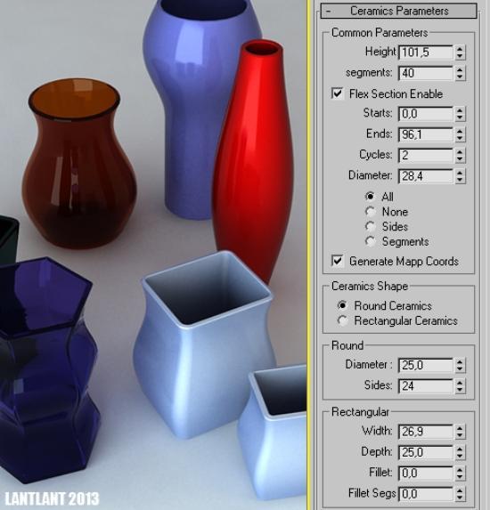 Modellera vaser enkelt i 3ds Max