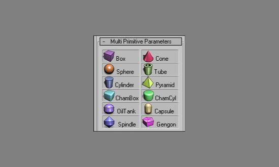 Multi Primitive för 3ds Max