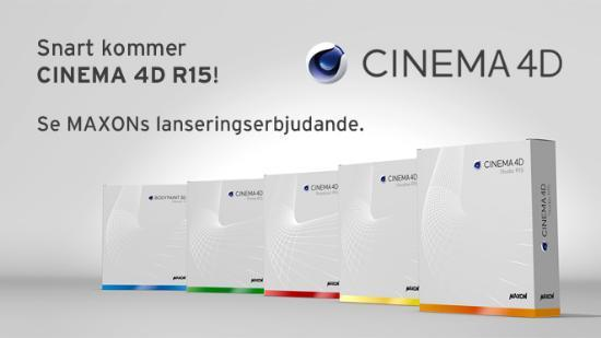 Snart kommer CINEMA 4D R15!
