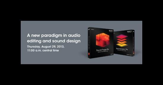 Webinar om ljudredigeringsverktyg från Sony