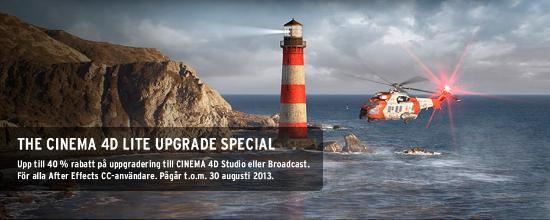 Sista chansen! Uppgradera CINEMA 4D Lite med 40% rabatt!