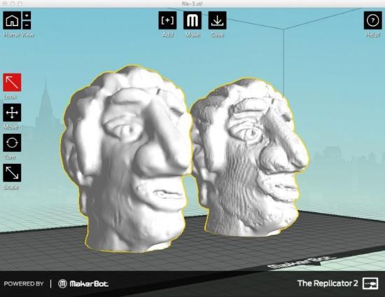 Dagens 3D-print – Kopia från 3D-skannad lerskulptur
