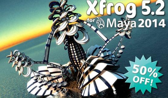 Kampanj på nya Xfrog 5.2 for Maya 2014