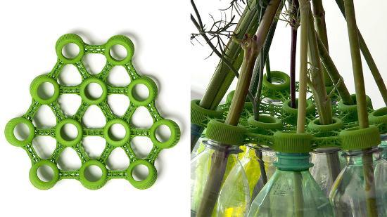 Omvandla PET-flaskor till vas med 3D-printat lock