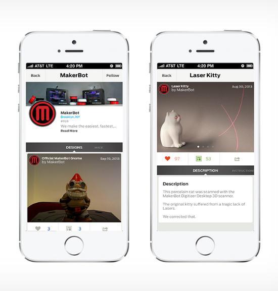 MakerBot släpper Thingiverse iOS App
