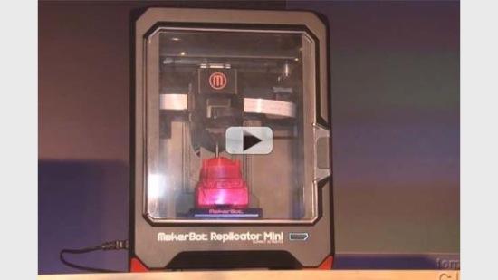 Se en video om nya MakerBot Replicator Mini