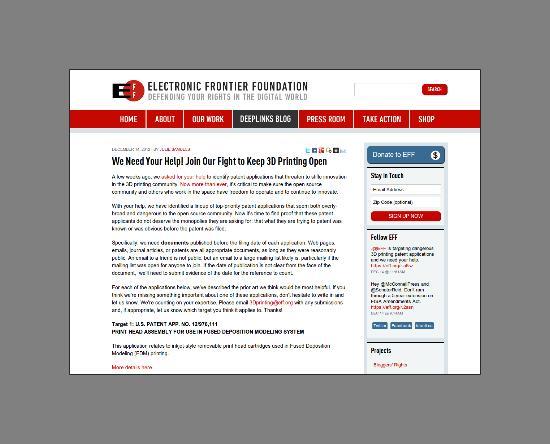 EFF vill skydda utvecklingen av 3D-printing