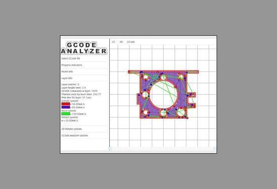 Se GCode innan du 3D-printar