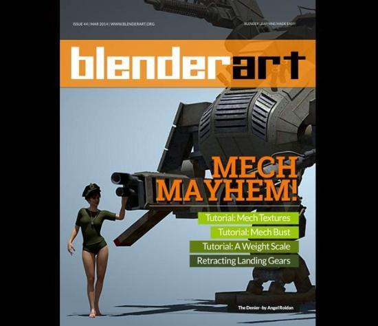 blenderart Magazine ISSUE 44: MECH MAYHEM ute nu