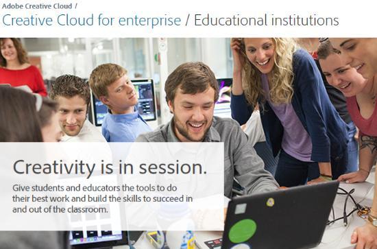 Adobe Creative Cloud  för studenter och lärare!