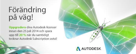 Autodesk – Ny kampanj på uppgraderingar!