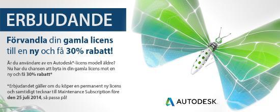 Uppgradera dina Autodesk-licenser och få 20% rabatt!