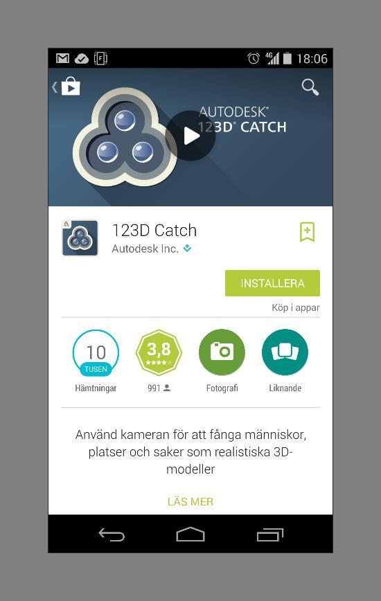Nu finns 123D Catch till Android