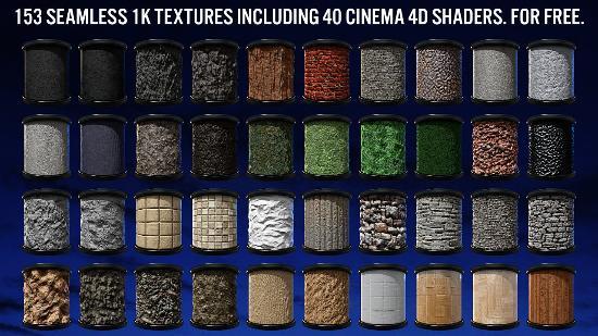 Generöst paket med fina Cinema 4D-material