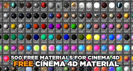 Ta del av 500 st. Cinema 4D-material
