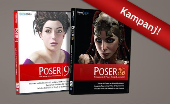 Kampanj på Poser Pro 2012 och Poser 9!