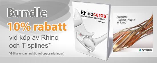 Rhino och T-Splines till paketpris!