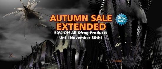 Höstrea! 50% rabatt på alla Xfrog-produkter!