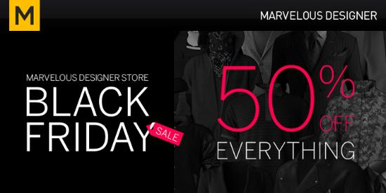 Marvelous Designer Store – Black Friday Sale!