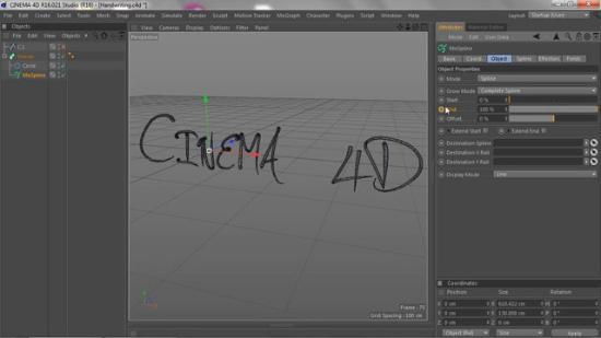 Elegant handskrivningseffekt i Cinema 4D