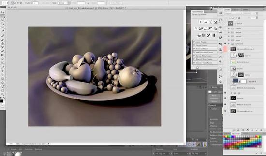 Vacker abstrakt 3D-konst