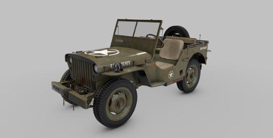 Fri 3D-modell från The Pixel Lab: Willys Jeep