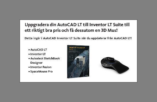 Sista chansen! Uppgradera AutoCAD LT – få SpaceMouse Pro på köpet!