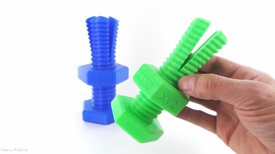 Dagens 3D-print – Mutter sitter fast i bult