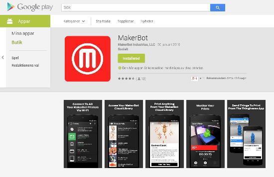 Nu finns MakerBots apps för Android