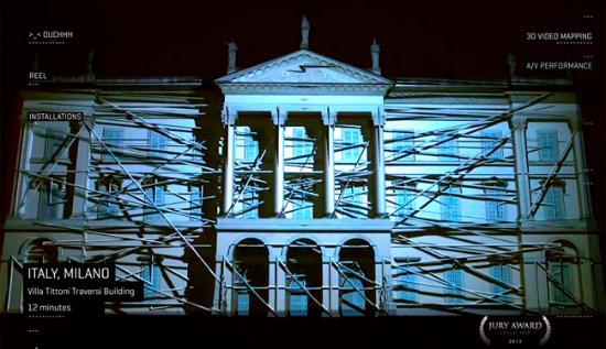 Supercoola 3D-projektioner på hus etc.