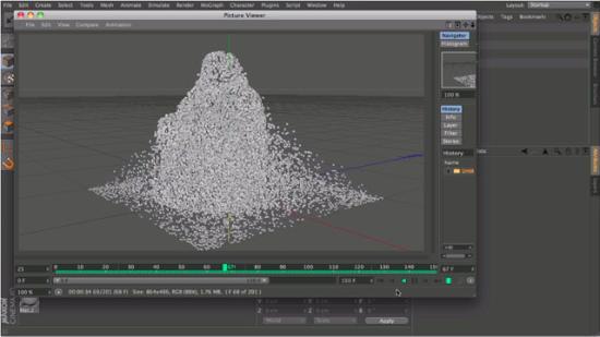 Tester med Inheritance Effector i Cinema 4D