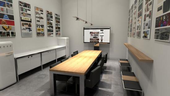 Gratis Cinema 4D-modell – modernt mötesrum