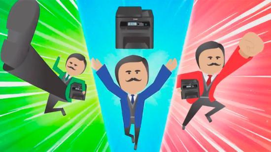 Sanslöst cool animation för Canon-printer