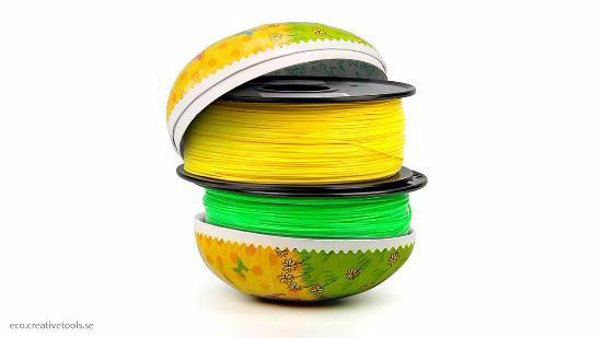 Kampanj på ECO-filament i glada påskfärger