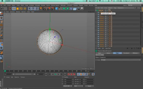 Gör keyframes av Dynamics i Cinema 4D
