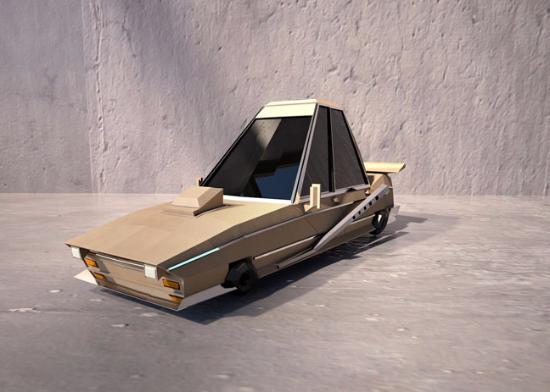 Gratis Cinema 4D-modell: en lowpoly bil