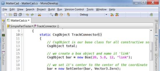 CAD-program som programmering i C#