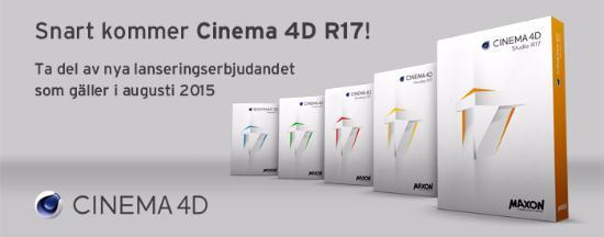 Nyheter i kommande Cinema 4D R17