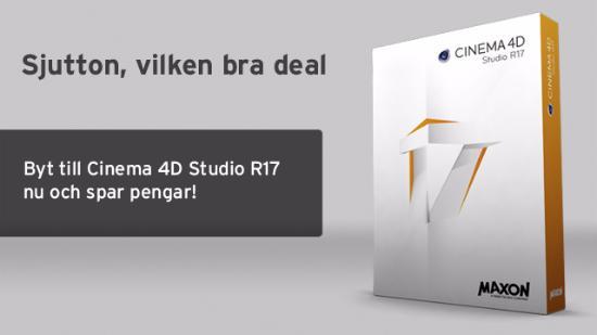 Skaffa Cinema 4D Studio R17 förmånligt!