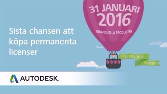 Sista chansen för permanent Autodesk-licens!