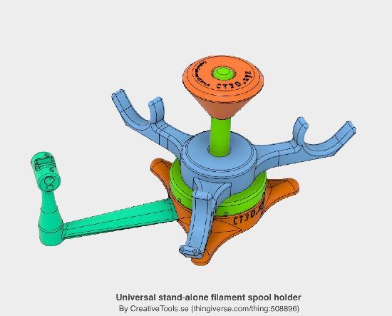 CAD-filerna till filamentspolhållare släppta