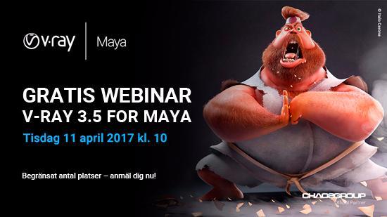 Webinar om nya V-Ray 3.5 for Maya