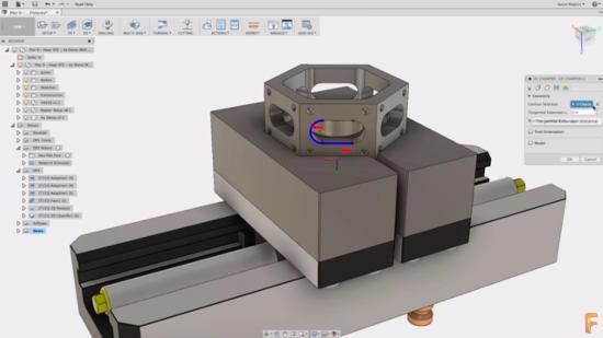 Välj Edge-selektion i Autodesk Fusion 360