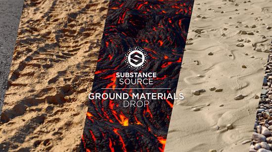 Nya texturer med mark och underlag i Substance Source