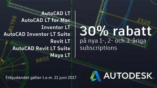 T.o.m. den 21 juni: AutoCAD LT Flash Sale!