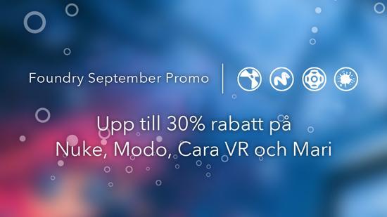 Foundry Sept. Promo: upp till 30% rabatt