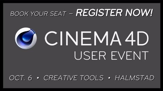 Cinema 4D User Event 6 okt – anmäl dig nu!