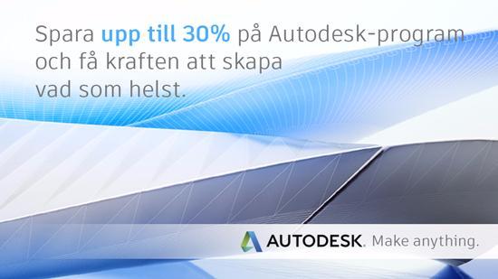 Spara upp till 30% på Autodesk programvaror